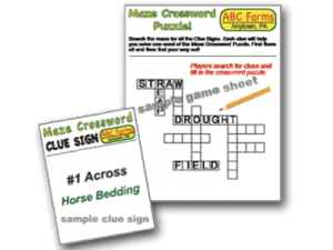 Corn Maze Crossword Puzzle