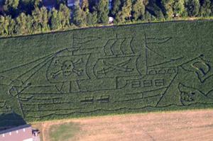 Pirate Ship Corn Maze